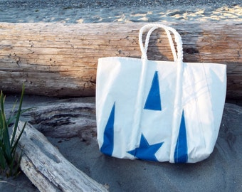 Recycled Sail Bag with Star and Stripes