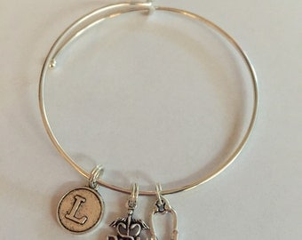 Nurse charm bracelet - great gift for your favorite nurse!  Wear those stethoscopes with pride!
