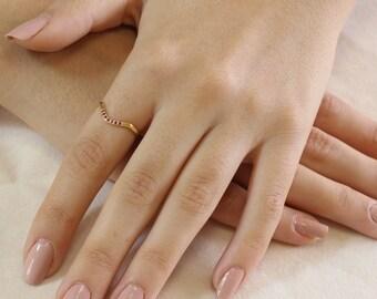 Contoured Wedding Ring , Ruby Wedding Band , Yellow Gold , Thin Wedding Ring , Delicate Band , Stacking Ring , Pink Ruby , Wedding Band,