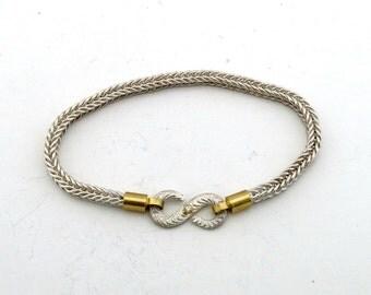 Handmade Fine Silver Chain Bracelet ~ Fine Silver Chain, 18k Gold, Pure Silver, Diamond