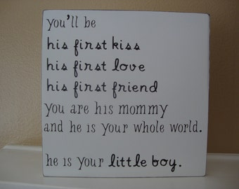 Little Boy Room Wood Sign-- Kids Room, Home Decor, Nursery, Baby Decor, Mother's Day, Gift