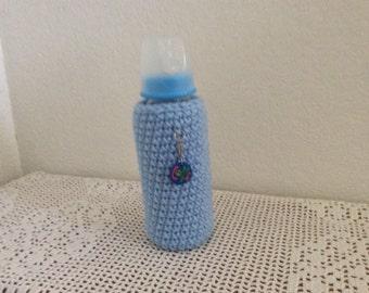 9 oz Baby Bottle with Crochet Cozy