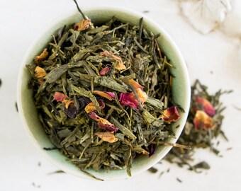 Passion Fruit Green Tea / Green Tea blend / Pomegranate Green Tea / Hand Blended Tea / FRAGRANT DRAGON