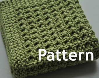 Washcloth / Dishcloth Knitting PATTERN - Summer Grille