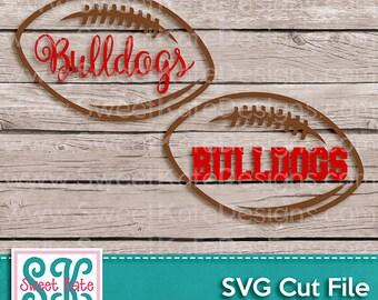 Bulldogs Football Outline SVG JPG PNG {Scrapbook Die Cut Heat Transfer Vinyl Cut} Silhouette Cricut svg Instant Download Sweet Kate Designs