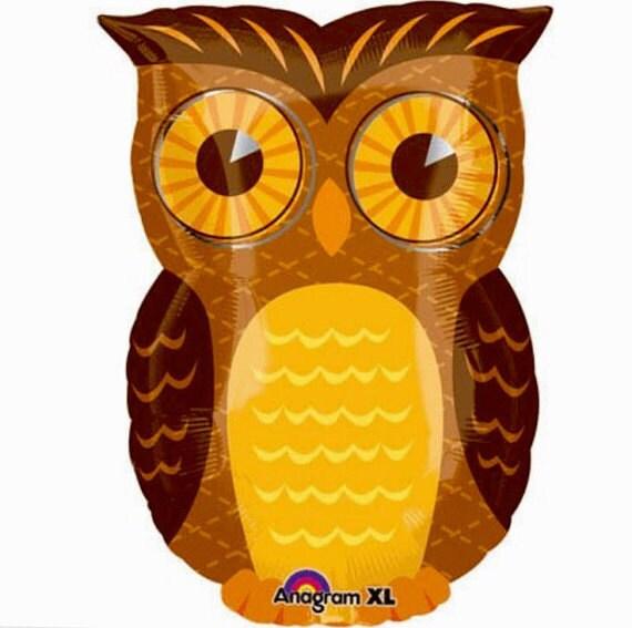 Inch woodland owl foil balloon