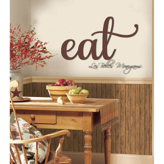 Large Eat Sign Kitchen Wall Decor Rustic Eat Sign Wall