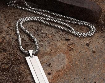 Chrome Steel Men's Necklace by KAVALRI