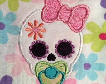Skull Baby Girl 5x7 VP3