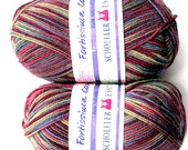 Fortissima Colori //(2x50 gr.) Balls by Schoeller Esslinger. Self-Striping wool Ideal for Knitting Socks as well as Garments. //On SPECIAL!