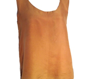 Louise Paris Silk Marigold Tank Blouse - Size Medium