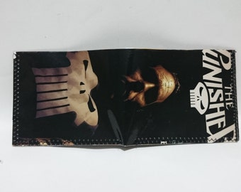 Punisher 3 - recycled comic book wallet - slim wallet - hanmade wallet - card holder - thin wallet - vinyl wallet - men's wallet