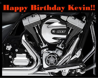 Motorcycle Engine Edible Image/Cake Topper