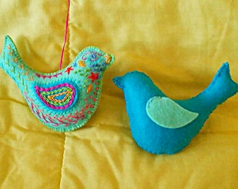 Plush felt little birdy - buy the kit and make yourself or buy the birdy ready made - Which will you choose?