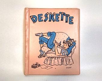 Vintage Pink Vinyl Deskette Stationary Set by Pony Tail 1950's