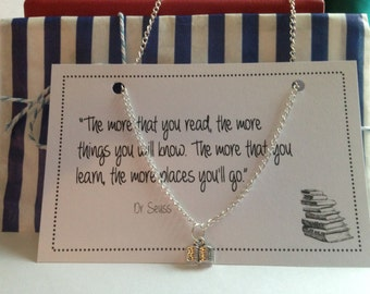 Dr Seuss The More You Read Necklace –FREE POSTAGE and Discount code