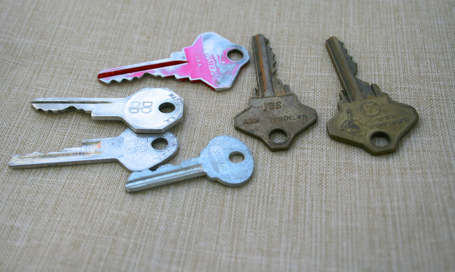 Old door key collection house keys ring making supplies for Classic house keys