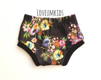 Baby/Toddler Girl Floral Flower Cuffed Shorts Shorties 3m-4T