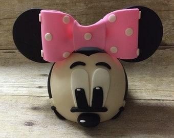 Fondant Minnie Mouse with Face Inspired Cake Topper