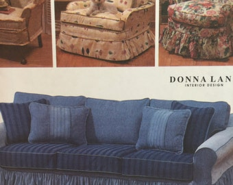 Simplicity 7565 Home Decorating Couch or Chair Slip Cover Sewing Pattern