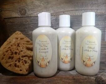 Exfoliating Face Scrub-Oatmeal-Milk-Honey Natural Face wash Organic Face Scrub