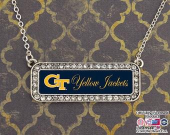 Georgia Tech Yellow Jackets Nameplate Necklace