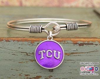 TCU Horned Frogs Iridescent Round Bracelet