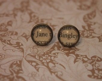 Jane ~ Bingley Earrings ~ Jane Austen ~ Pride and Prejudice ~ Mr Darcy ~ Elizabeth Bennet ~