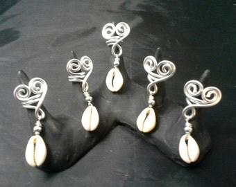 Hearts Dreadlock Jewelry, Hair Jewelry, Loc Coils, Dreadlock Jewelry, Dreadlock Beads, Dread, Wire  Loc Jewelry,  Braid Beads