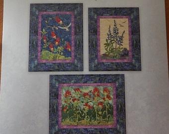 SALE!! 50% OFF!! McKenna Ryan Petals of My Heart II Quilt Patterns Collection Three Columbine Lupine Indian Paintbrush 3 Patterns