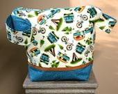 Camping Fun Medium Zip Bag - check close up of this fabric!