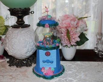 Bubblegum Machine Assemblage Art  - Sweet Shop Gumball Centerpiece