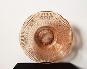 SALE • Vintage glass bowl, Sowerby glass, pale pink dish, pressed glass bowl, antique collectible, antique bowl, English farmhouse decor