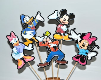 Mickey Mouse Clubhouse Centerpiece Picks Set of 5 (DOUBLE-SIDED)