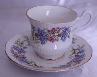 China tea cup and saucer - Royal Devon Fine Bone CHina  Made in England High Tea Tea Party