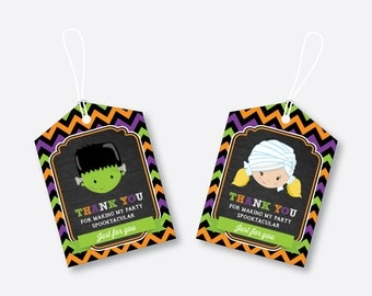 Instant Download, Halloween Favor Tags, Halloween Thank You Tags, Halloween Gift Tags, Halloween Birthday Tags, Halloween Party (CKB.139)