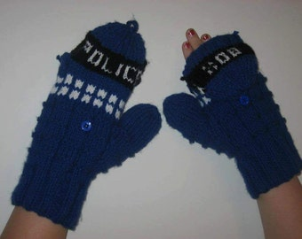 Police Box Mittens