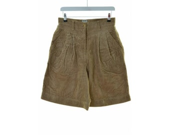 Moschino Womens Shorts W30 Brown Cotton Polyester