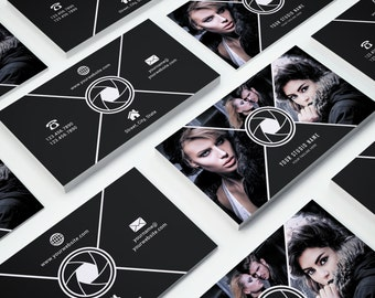 Business Card Template 017 for Photoshop - Print Ready - 3.5 × 2 in