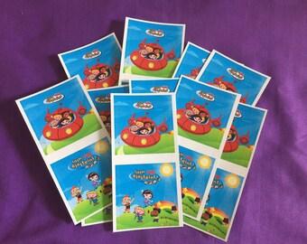 10 Little Einsteins Sticker Sheets (2 stickers per sheet) Party favors
