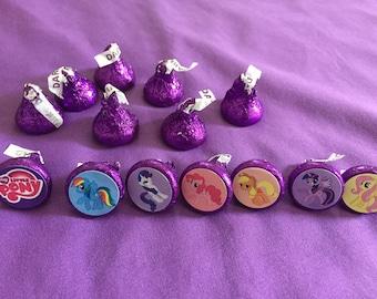 My Little Pony Hershey's kisses labels, envelope seals, party favors