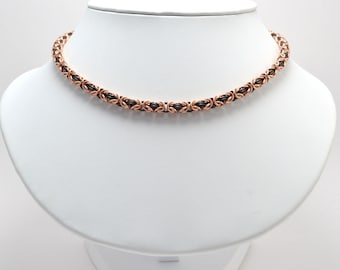 Byzantine Necklace in Bronze and Black Niobium