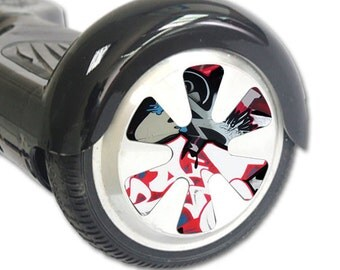 Skin Decal Wrap for Hoverboard Balance Board Scooter Wheels Graffiti Mash Up