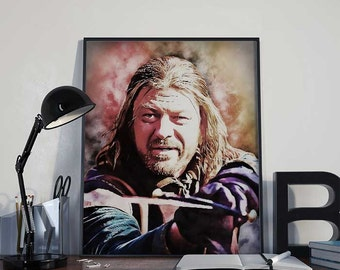 Ned Stark - Game of Thrones Art Print Poster - INSTANT DOWNLOAD - Wall Decor, Home Decor, Gift