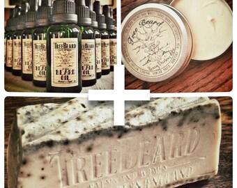 TreeBeard Beard Balm, Beard Oil, and Beard Soap Super-Combo!