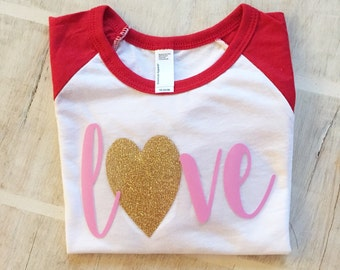 Perfekt Girls Valentines Shirt   Valentines Shirt   Glitter Valentine Shirt   Womens  Valentine Shirt   Glitter