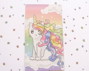 Cute Rainbow Cat Magnet Rainbow Unicorn Magnet Cute Magnet Cat Magnet Fridge Magnet Cubicle Decor Kawaii Magnet Unicorn Magnet Refrigerator