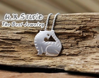 Handmade Silver Tiger Pendant, Silver 990 Lovely Tiger Pendant, Teenage, Valentine, Anniversary, Birthday, Christmas, Wholesale Available