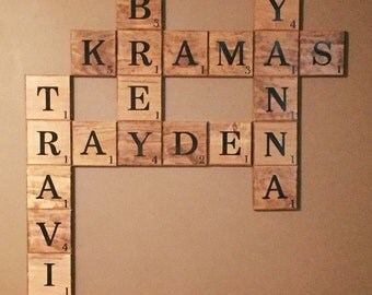 Large Scrabble Tiles Etsy