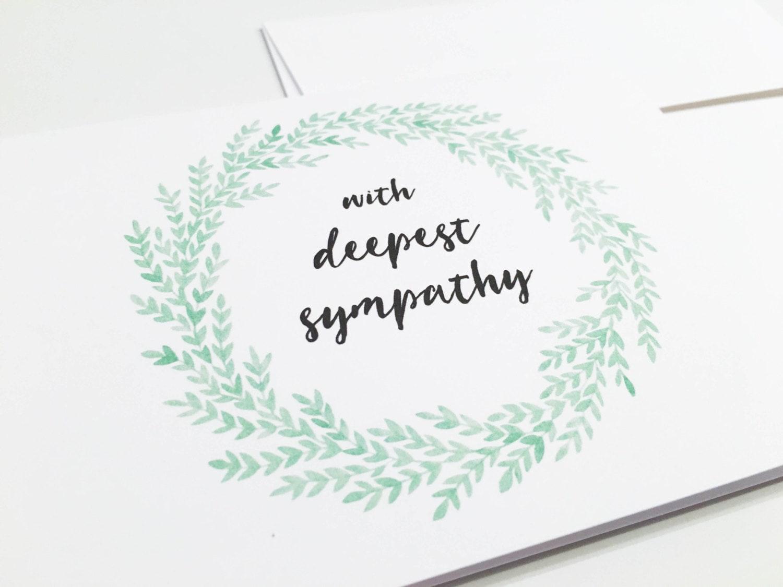with deepest sympathy card beautiful sympathy card